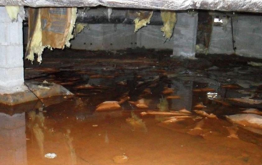 water in de kruipruimte